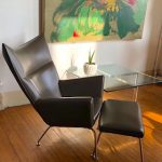 Our Wegner-Style Wing Back Chair and Ottoman