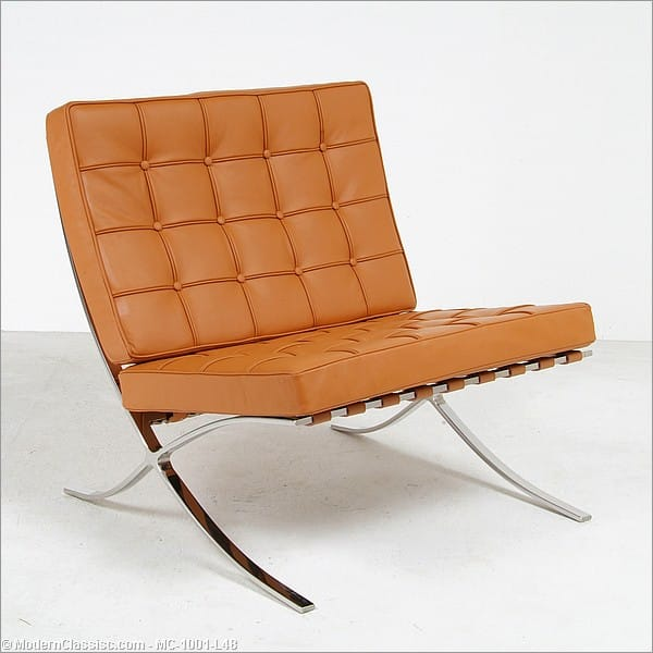 bauhaus exhibition chair barcelona chair reproduction