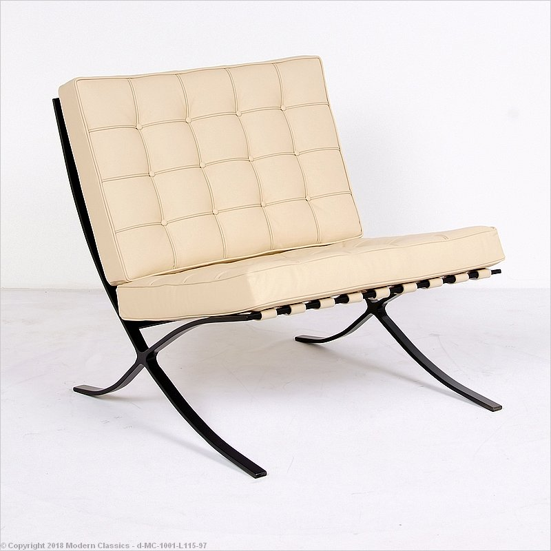 Barcelona Chair Replica Black Frame