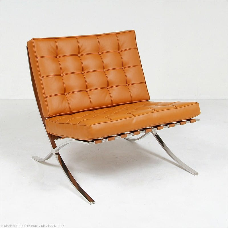 Fantastic In Stock Saddle Brown Leather Barcelona Chair Mies Van Der Creativecarmelina Interior Chair Design Creativecarmelinacom