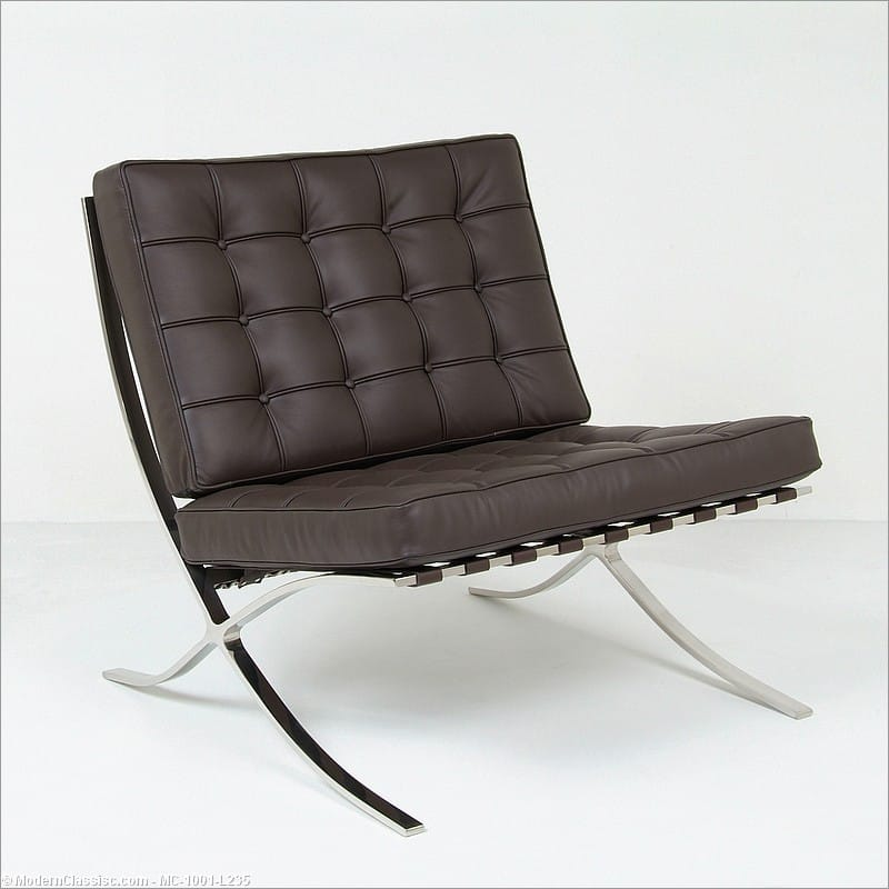 mies van der rohe exhibition chair barcelona chair. Black Bedroom Furniture Sets. Home Design Ideas