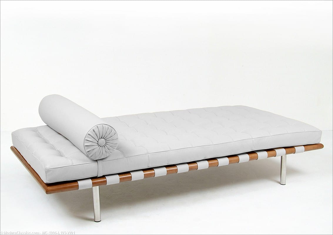 Barcelona Daybed White Leather Replica