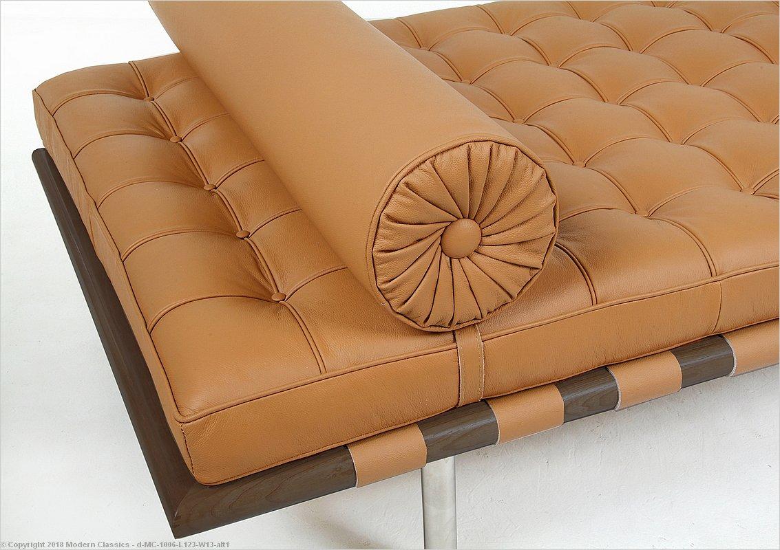 Modern classics barcelona daybed dark walnut frame
