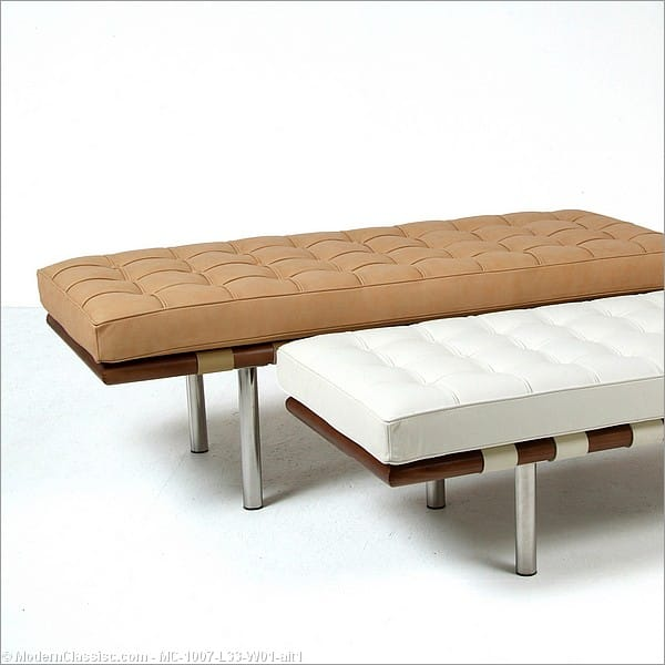 Modern Classics Furniture Bauhaus Barcelona Bench Tall Or Short Legs