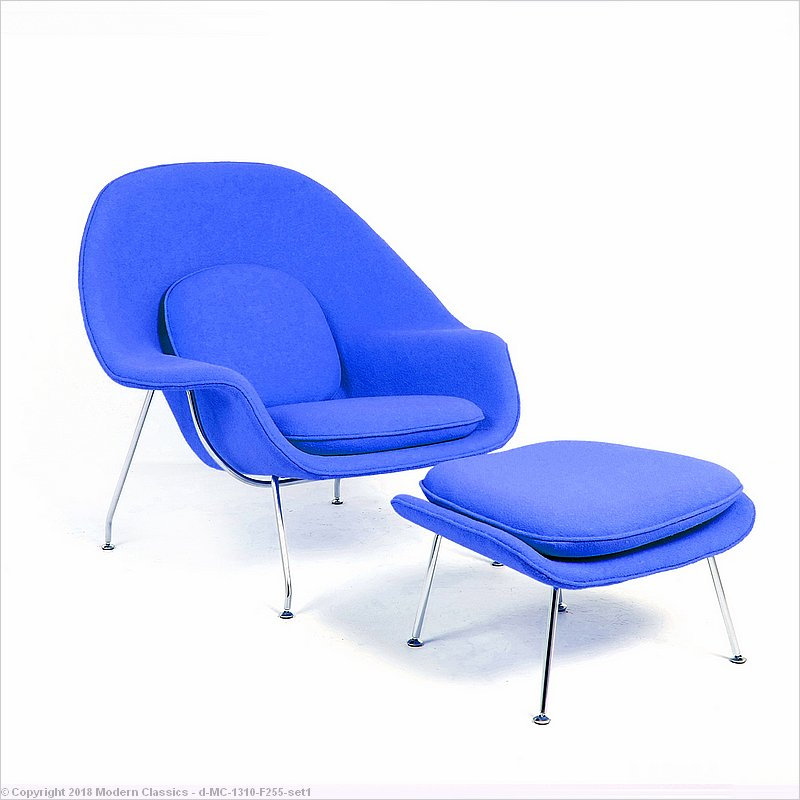 check out 1217d cb515 In-Stock: Royal Blue Fabric Womb Chair Eero Saarinen Style ...