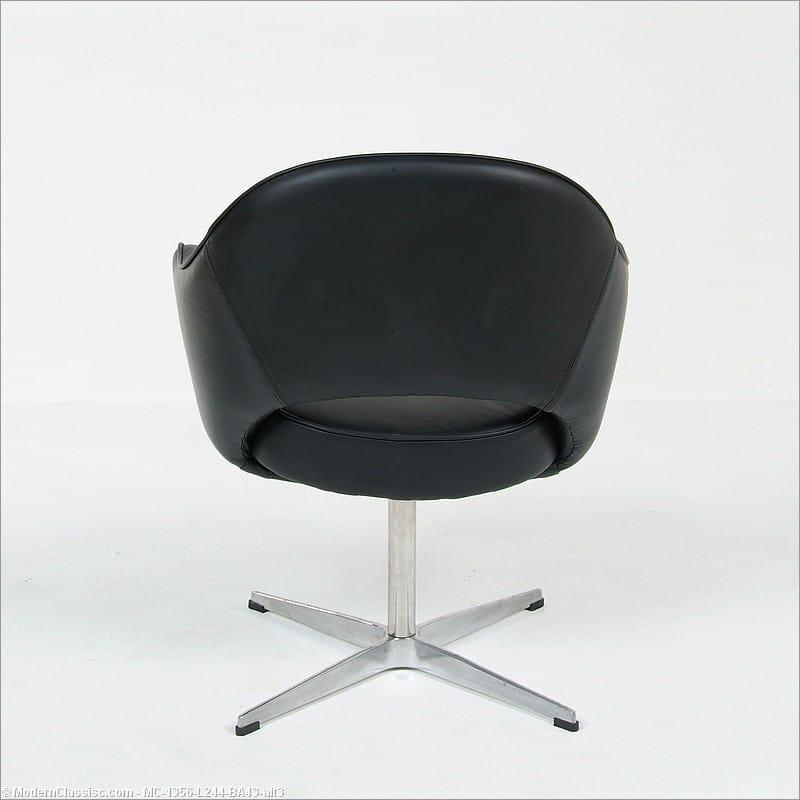 Saarinen arm chair replica premium black leather - Saarinen chair replica ...