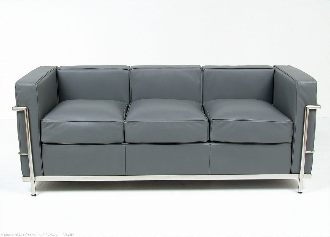 Iconic furniture reproductions Le corbusier lc2 sofa