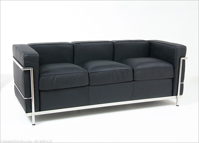 le corbusier lc2 sofa replica by mc. Black Bedroom Furniture Sets. Home Design Ideas