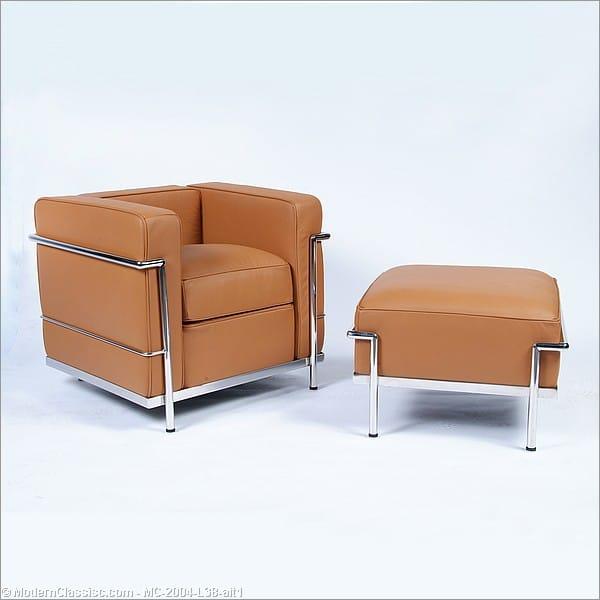 le corbusier lc2 petite ottoman reproduction. Black Bedroom Furniture Sets. Home Design Ideas