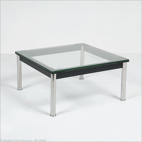 le corbusier side table glass top. Black Bedroom Furniture Sets. Home Design Ideas