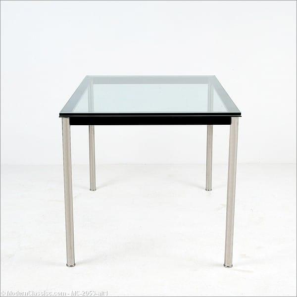 le corbusier rectangular dining table. Black Bedroom Furniture Sets. Home Design Ideas