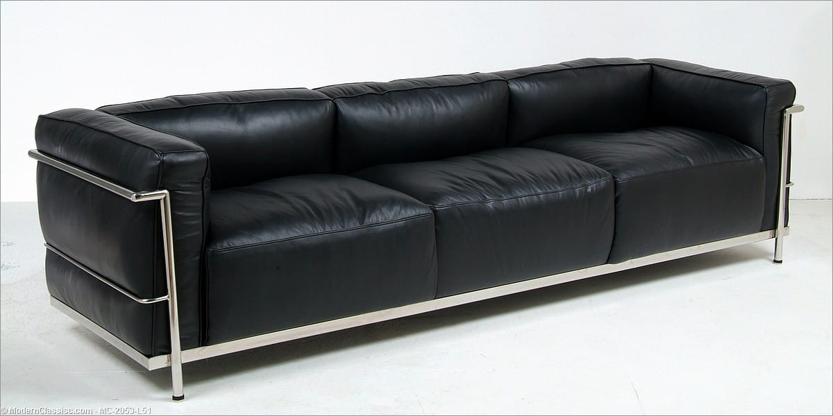 lc3 sofa lc3 three seater sofa cina milia thesofa. Black Bedroom Furniture Sets. Home Design Ideas