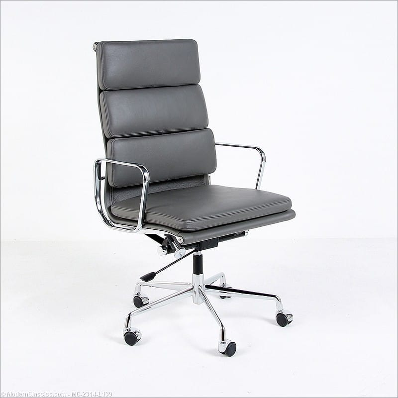 eames soft pad office chair high back charcoal gray
