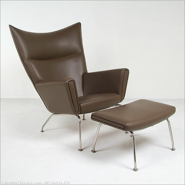 Wegner wing back lounge chair - Wegner wing chair replica ...
