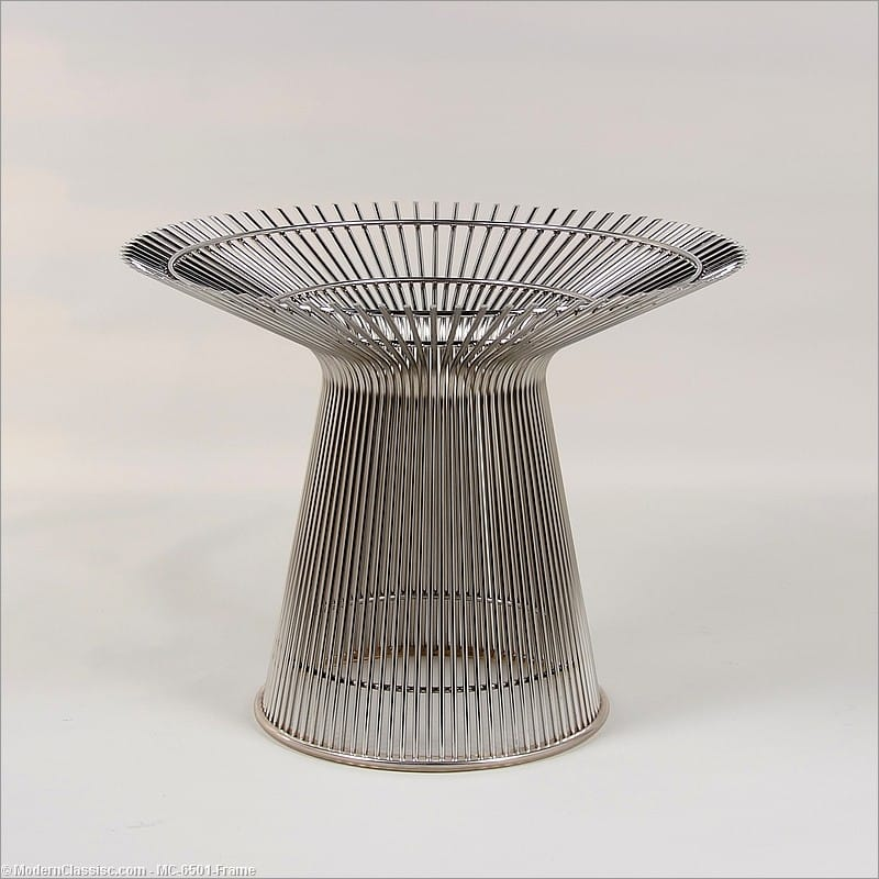 Platner Style: Round Dining Table   Base Only