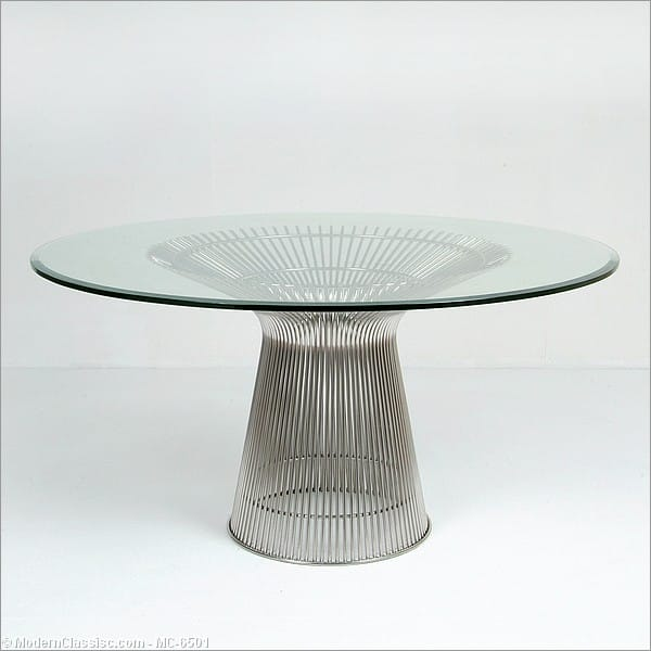 Platner Style Wire Frame Round Dining Table Base Only