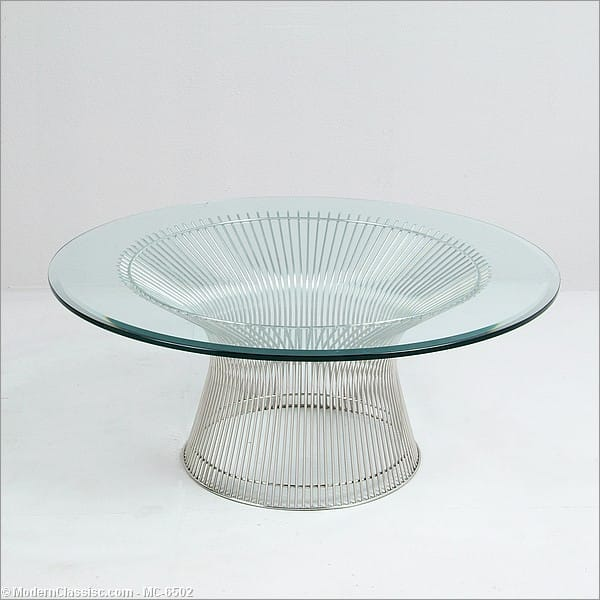 Platner round coffee table modernclassicscom for Wire round coffee table