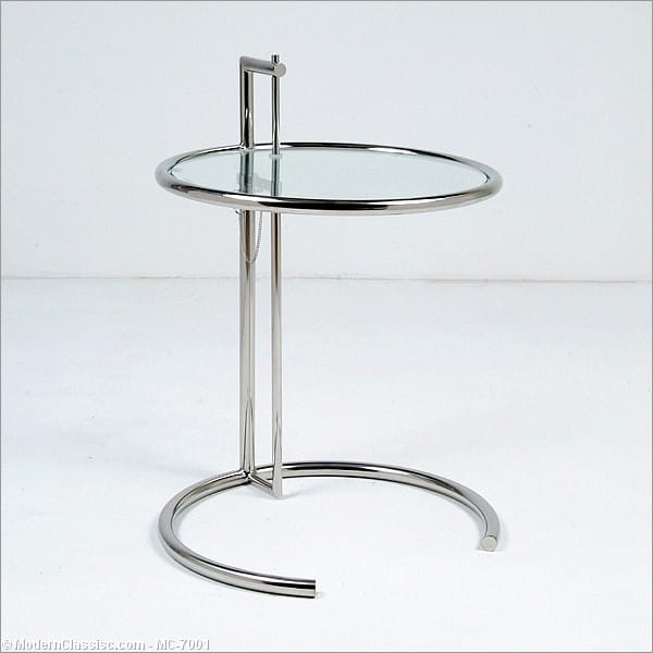 eileen gray adjustable side table. Black Bedroom Furniture Sets. Home Design Ideas