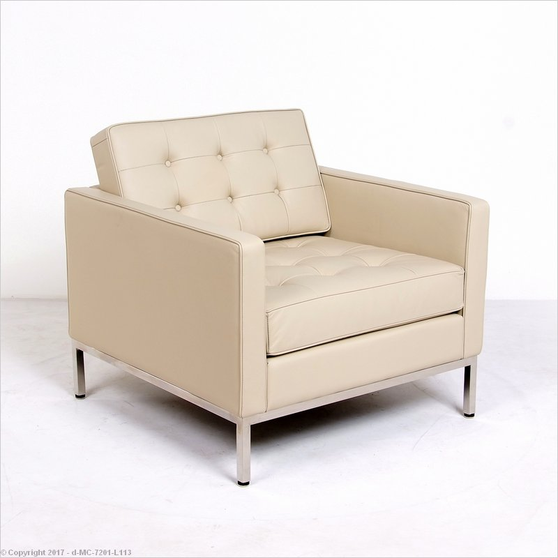 Merveilleux Florence Knoll Style: Lounge Chair   Parchment Leather