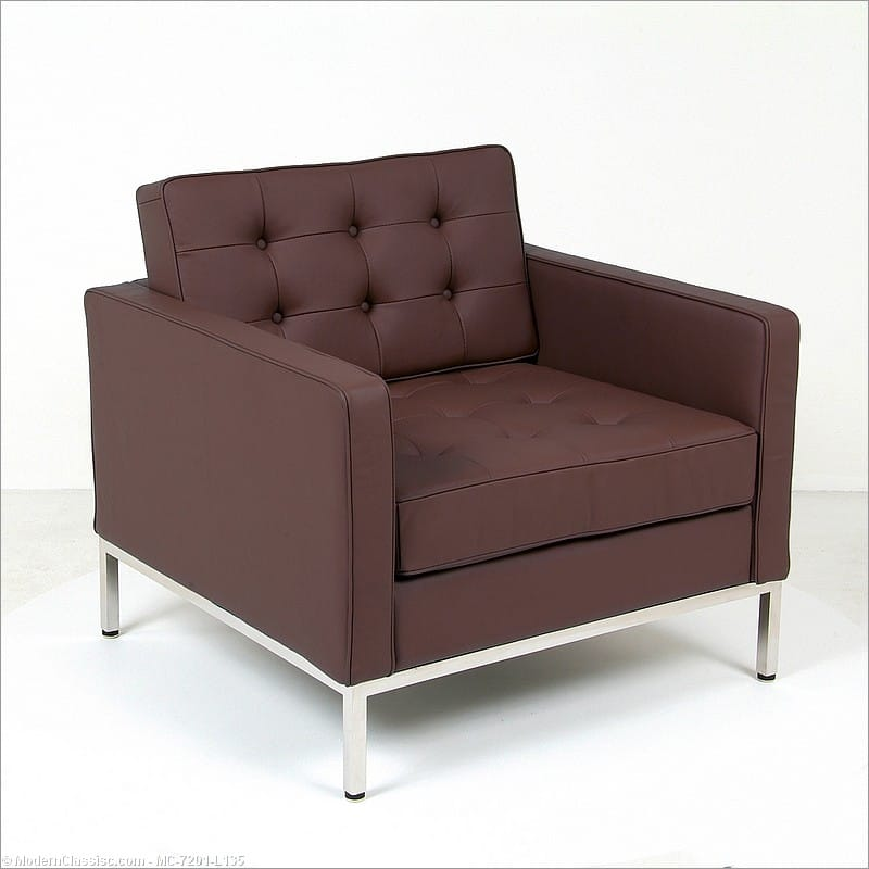 Attrayant Florence Knoll Style: Lounge Chair   Java Brown Leather