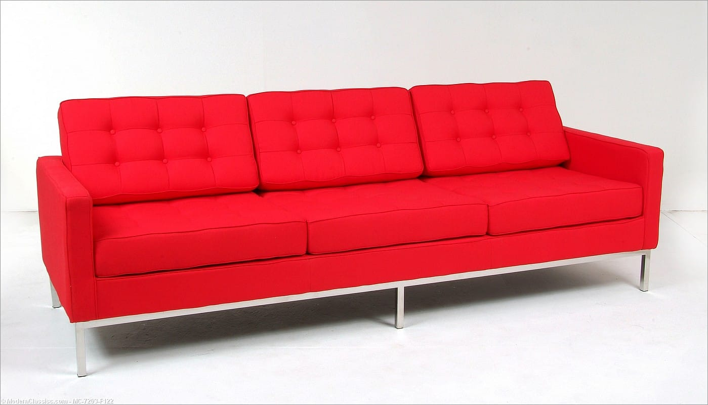 Florence Knoll Sofa Reproduction Leather