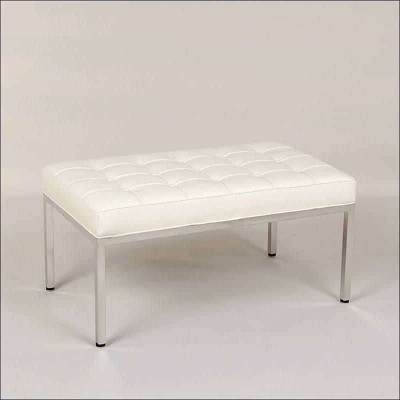 Florence Knoll 36 Inch Bench Cream White