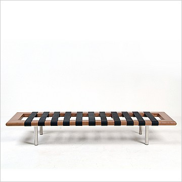 Modern Classics Barcelona Bench - Black Leather