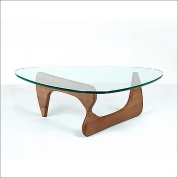 Free Form Coffee Table Medium Walnut Base Noguchi Replica