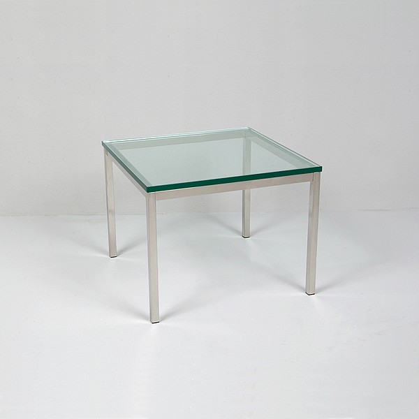 Small Square Glass Top Side Table