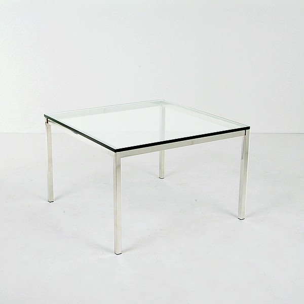 Medium Square Glass Top Side Table