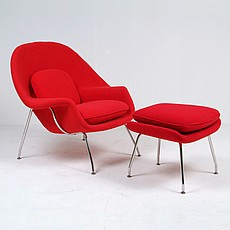 Saarinen Womb Chair Reproduction with Ottoman