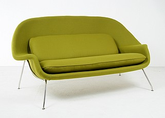 Saarinen Womb SOfa Green