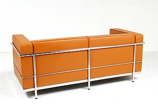 Le Corbusier LC3 Loveseat in Golden Tan
