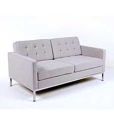 Florence Knoll Seatee Replica in Silver Gray