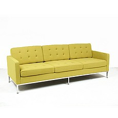 Florence Knoll Sofa Replica in Chartreuse Green