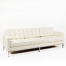 Florence Knoll Sofa Replica in Cream White